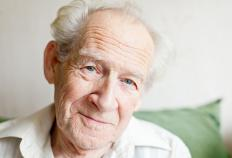 Elderly patients commonly experience visual hallucinations of a dead loved one.