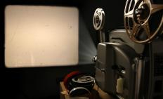 Vitaphones were played as film projectors showed films.