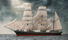 Clipper ships were used to carry settlers to California throughout the 1850s.
