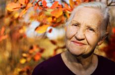 Someone happy in old age might be experiencing karma from a life of good deeds.