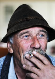 People who smoke often experience brown mucus.