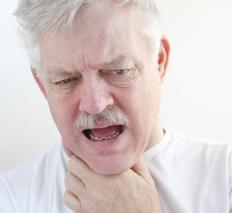 Wheezing and choking are symptoms of airway obstruction.