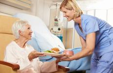 Some dietetic technician jobs entail working in a hospital or nursing home environment.