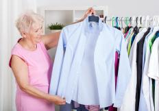 Getting rid of unworn clothing may help reduce clutter and promote feng shui.