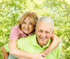 """Hale and hearty"" usually refers to elderly people who remain in good health at an advanced age."