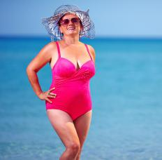 Plus size bathing suits are available in many styles and colors.