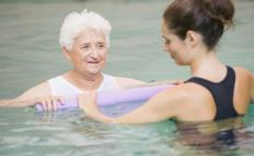 Physical therapy regimens may include aquatic therapy.