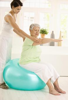 Home care workers can help with physical therapy regimens.