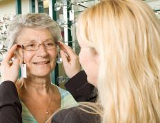 Eye glasses may be adjunct with eye exercises to improve sight problems.