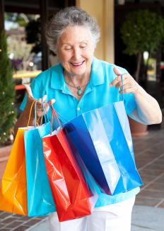 Seniors who have more free time might go on a shopping spree.