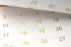 Calendars may be given out by businesses as a promotional item.