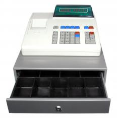 Cash registers use tilt rolls to record transactions.