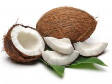 Young coconut has less water and can be used in buko pie.