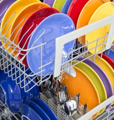 Many dishwashers have cutlery baskets.