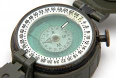 The magnetic field strength on earth keeps a compass pointing north.