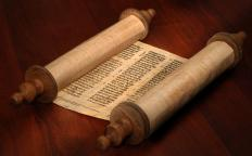A scroll is a large roll of paper that is used to display printed information.