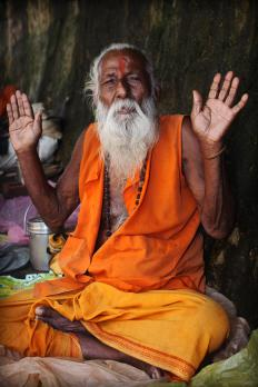 A Hindu Brahmin, or priest.