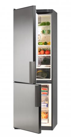 A bottom freezer refrigerator.