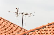 An aerial antenna is often prone to weather damage.