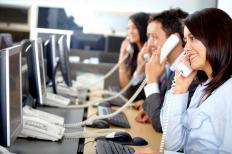 A telemarketing call center.