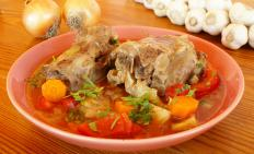 The only meat in oxtail soup comes from cattle or a cow.