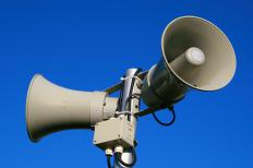 Public Address systems, or PA systems, are used to broadcast announcements over a designated area and are comprised of loudspeakers and other audio equipment.