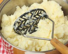 A hand masher can be used to make mashed rutabagas.