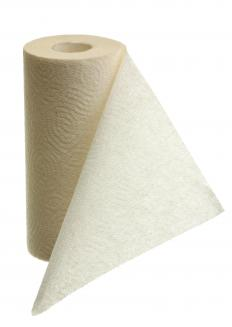 Paper towels may help soak up wax from carpet.