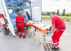 An EMT will commonly drive an ambulance during a non-emergency transportation.