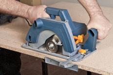 A circular saw with a diamond blade.