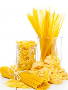 A pasta extruder makes a variety of pasta shapes.