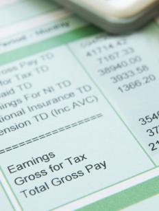 When employed, taxes and other fees are taken out of the paycheck before it is given to the employee.