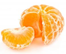 An orange contains about 50 milligrams of Vitamin C per gram.