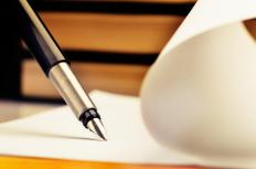 Fountain pens fell out of use with the invention of the ballpoint pen.