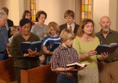 Someone who belongs to a particular church might join its singing group.