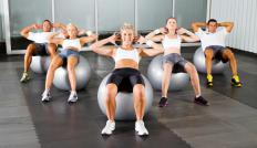 Some pilates workouts use an exercise ball to help build core strength.