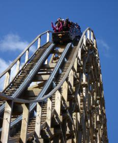 A hyper coaster is a super high speed roller coaster.