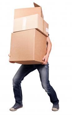 Carrying heavy boxes may cause a scrotal hernia.