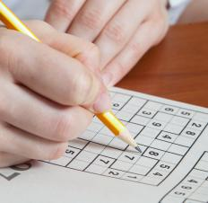 Puzzles like Sudoku can help someone keep their mind focused on something other than their illness.