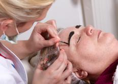 Permanent dye may be used to color the eyebrows.