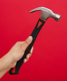 Claw hammers are the most common type of hammers.
