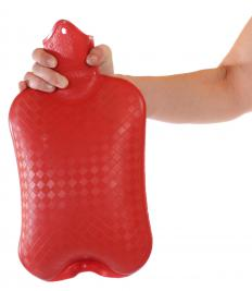 Hot water bottles are often used to soothe sore and stiff muscles.