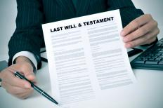 An express trust may be written in the form of a person's last will and testament.
