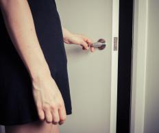 Enteric bacteria may spread by transferring to things which people handle, like door handles.