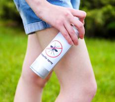 Using insect repellent spray may help reduce the chances of being bitten by mosquitos.