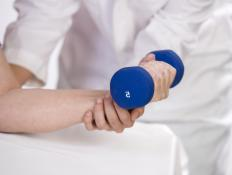 Physical therapy programs may utilize light isotonic exercises to help patients develop muscle and joint strength.