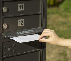 Address labels can be affixed to an envelope to identify its sender and recipient.
