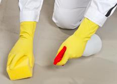 Cement floors must be properly cleaned before painting.