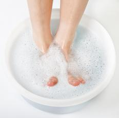 Aching feet may be soothed by soaking them in a mixture of warm water and bedstraw.