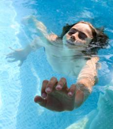 A near drowning occurs when someone almost dies as a result of being under water.
